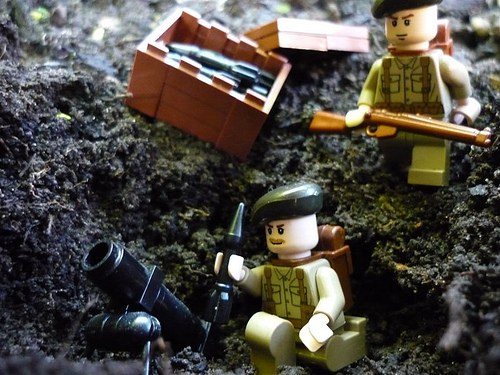 British Lego soldiers