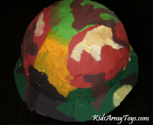 Papier-Mache Army Helmet