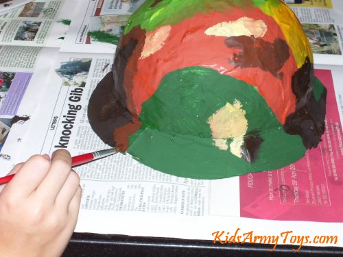 How To Make A Papier-Mâché Army Helmet