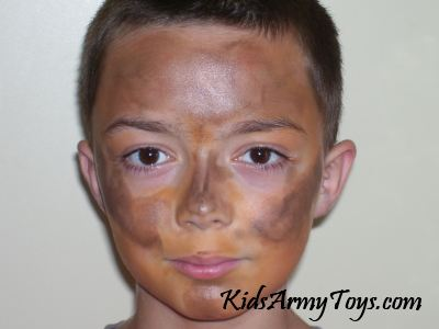 How to apply camo face paint for kids for How to apply face paint