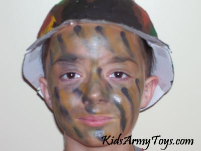 How To Apply Camo Face Paint For Kids